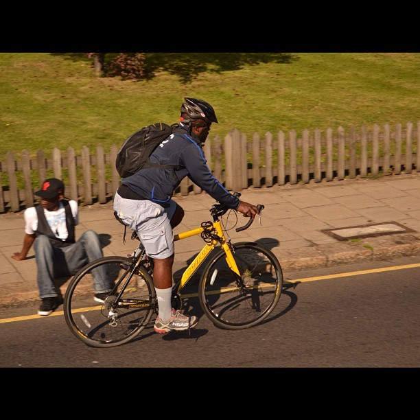 Captured a cyclist because I'm cool like that. #photography #capturingmotion #motion #actionandmovement #action #movement #landscape #cyclist #bicycle #riding #sunny #noon #midday   (Taken with Instagram)