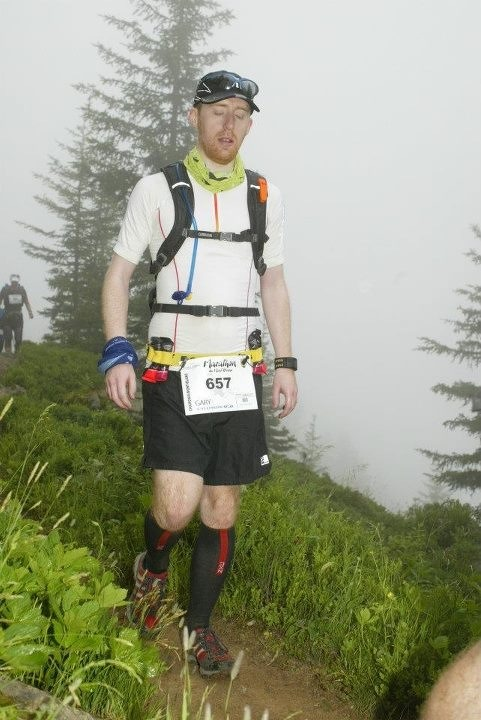 Gary 35km in the Mont Blanc Marathon 2012