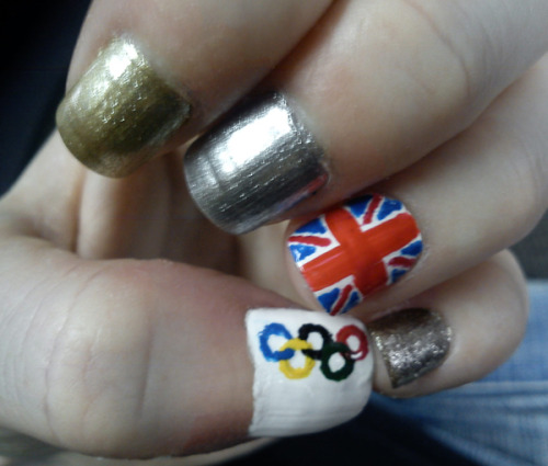 Redid my Olympic nails for Wimbledon last Sunday (blog post to follow soon!)
