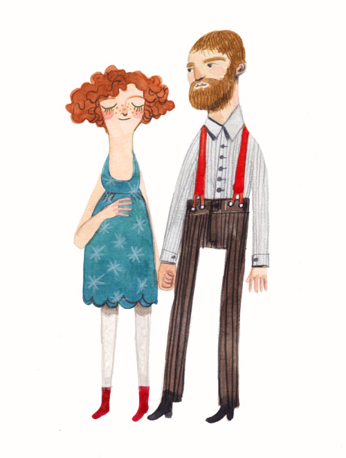artpixie:  (via early morning characters 6: poppy and jackson)