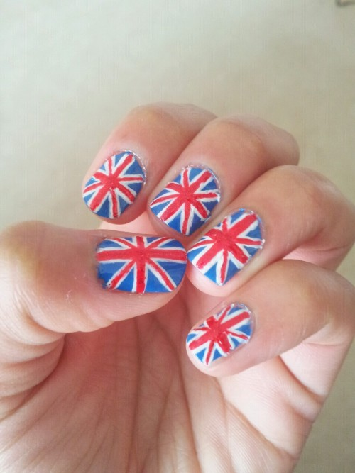 Team GB nails with a touch of sparkle. - J