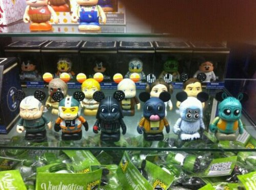 The Star Wars 2 Vinylmation set has Moftak, Ponda Baba, Greedo, Grand Moff Tarken and a Tusken Raider! And the other designs look fantastic! A new Mickey mold for Leia, too! And the chaser? Hologram Leia:  They went deep into the library and deep into my pocket with this set - I'm buying a complete box as soon as I see one!