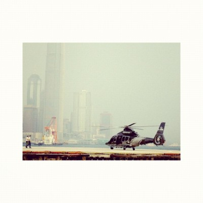 new helicopter-port near wanchai expo (Taken with Instagram)