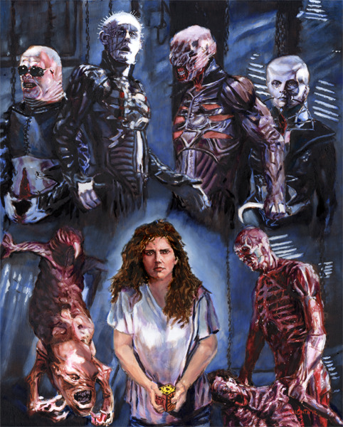 kreepylady:  My friend Chris Kuchta's brand-new HELLRAISER painting! Please keep link attached: http://www.horrorartist.com/ He'll be at Wizard World Comic Con in Chicago, tomorrow through Sunday (Aug. 9-12, 2012) if you want to buy prints!