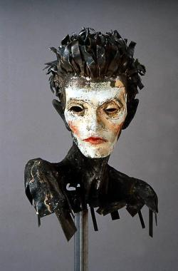 clintcatalyst:  Al Farrow : Steel Head/Sculpture of Egon Schiele