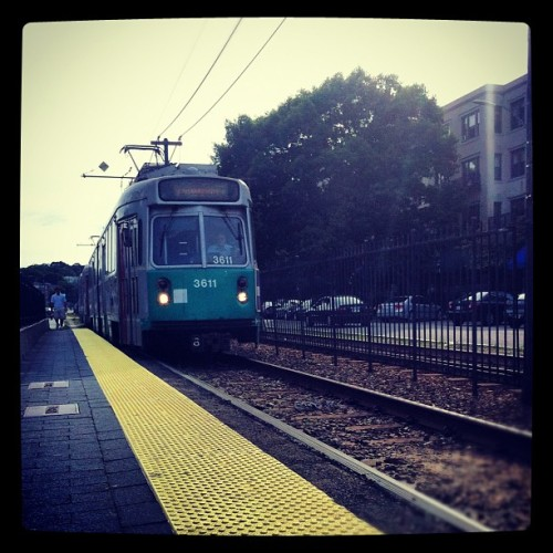 therealricker:  ninaps:  #MBTA #GreenLine #Allston (Taken with Instagram)  This made me homesick and yearn for my college days. Of course, in those days, waiting for the B line cars sucked hard. I'm sure nothing has changed, but I still miss it. The T will be my primary mode of transportation when I visit Boston in October. Of course, I'll have a mild buzz for the duration of the trip, so my guess is I'll be okay with whatever.   Ricker and I became friends in Boston and we've been biffers ever since.  I had a strange pang when I saw this picture as well, but I didn't write anything about it… And now it comes up on my dash with Rick saying things I feel, and I'm like - Yeah… that's all true. Miss you, Beantown. Hope to see you soon. :)