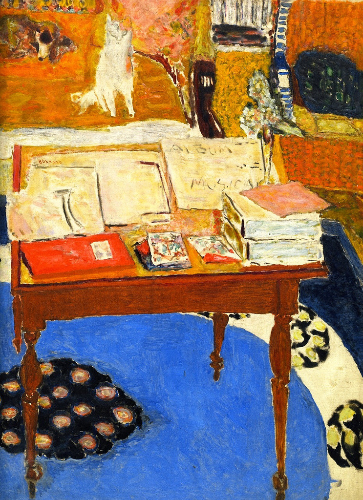 "For the society of friends who love Bonnard, his cats . . and his dogs . If Pierre were alive today, I'd commission him to paint me a picture of ""It's raining cats and dogs"". alongtimealone: Pierre Bonnard  