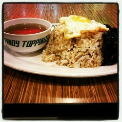 Punkrock diet! Hahaha! #pinoytoppings #tapsilog #pinoy #95pesosONLY (Taken with Instagram)