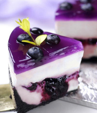 Blueberry cheesecake via Beverly Gilson