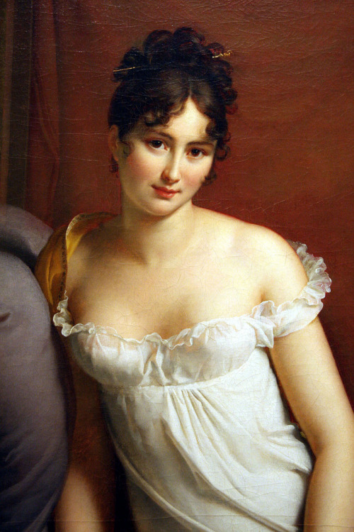 Portrait of Madame Récamier (detail) by Jacques-Louis David France, 1800  Painting, Oil on canvas Louvre, Paris