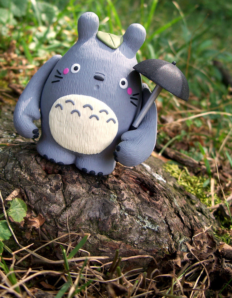 The Cutest Totoro Vinyl Toy Ever Jenn and Tony Bot crafted this adorable Totoro custom using Dudebox's Dude figure. You can check out more of their work on their blog or on Flickr, and Etsy. Also check out: More custom toy posts.