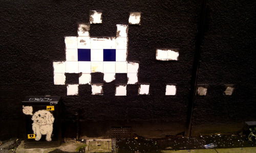 Space Invader Street art in Manchester Photo by Warren Fournier