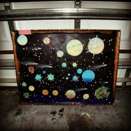 Glow in the dark Universe. (forsale) #art #glowinthedark #canvas #painting #forsale  (Taken with Instagram)