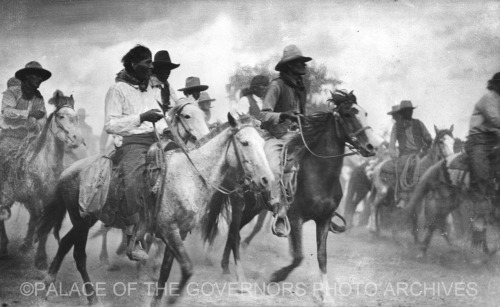 Navajo Riders Playing Game New Mexico - ca 1930 Photo By: J.R. Willis Negative #098187