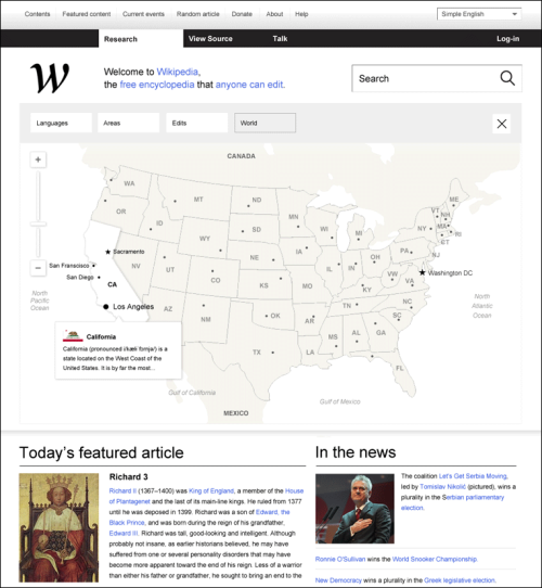 So. This firm's redesign of Wikipedia (and the WikiMedia family) is REALLY making my day. Check it out!