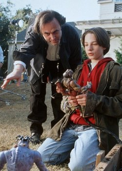 doublefeaturetheater:  Small Soldiers director Joe Dante and actor Gregory Smith on the set.
