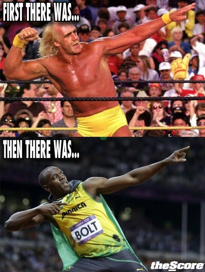 Hulk Hogan. Usain Bolt. We knew this looked a little too familiar…