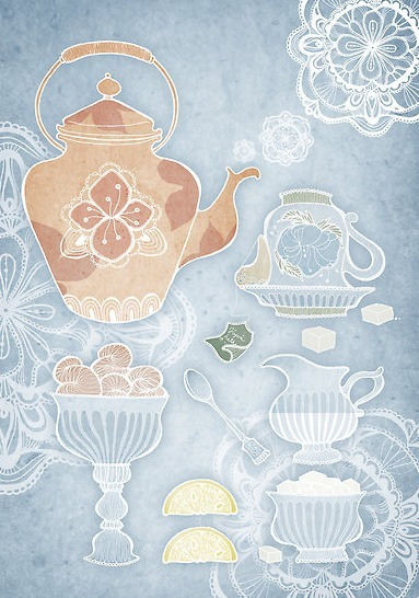 "mariya-o:  Daily Inspiration: lovely tea things ""Teatime"" by Annika Tiltunen"