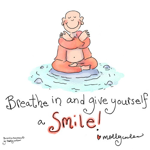 Buddha Doodle - 'Give Yourself a Smile' by Mollycules ♥ Please Share ♥