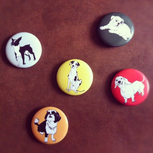 Puppy pins have arrived! Grab one at A Dog Day Afternoon, this Saturday, 8/11