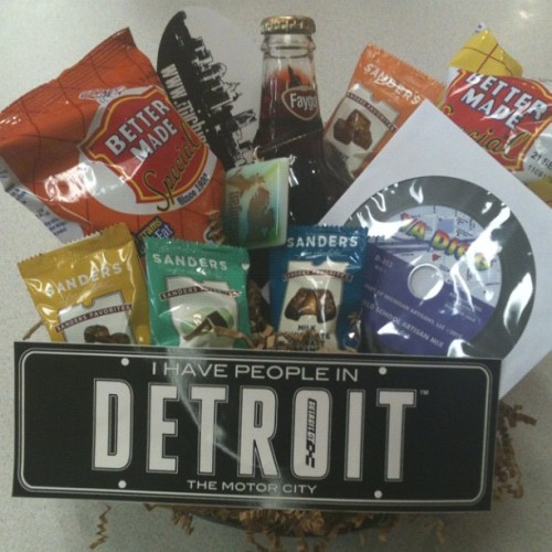 Exclusive Detroit Gift Basket #giftbowl  (Taken with Instagram at Michigan Artisans)