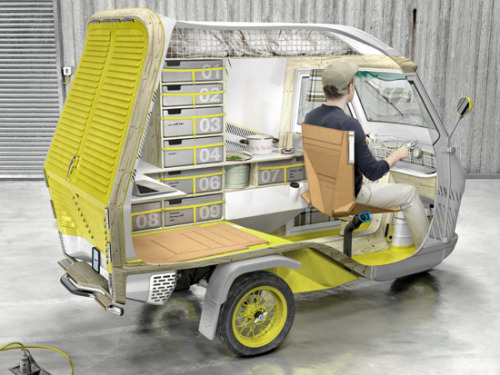 Introducing Bufalino. A new age camper brought to you by German designer Cornelius Comanns.   Daddy daddy can I have it
