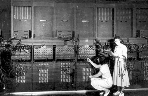 ENIAC, the first electronic general-purpose computer. Finished on February 14, 1946