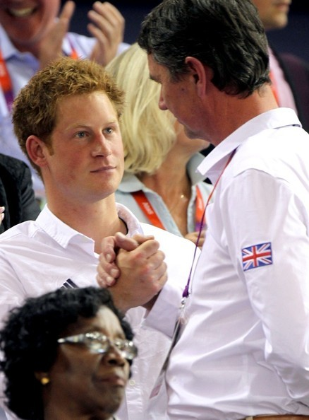 Prince Harry and his uncle Tim Lawrence. LOL