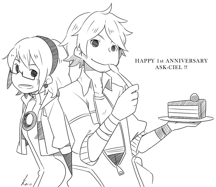 Happy 1st Anniversary Ask-Ciel! Sorry I always late for stuffs like this… Glider's style is really fun and addicting to draw~