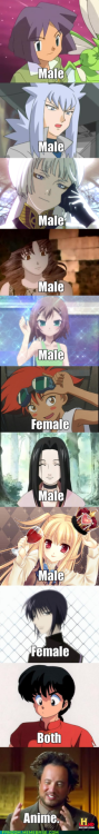 animegeeksplayland:  Anime is Gender Confused, #anime, #humor LOL RANMA xD