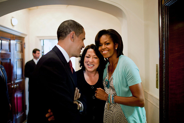 barackobama:  Happy SCOTUS-versary, Sonia: sworn in as the first Latina justice three years ago today.