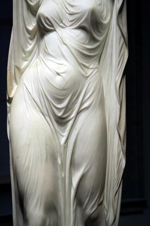 """Undine Rising from the Waters"" (marble) Chauncey Ives, 1881"