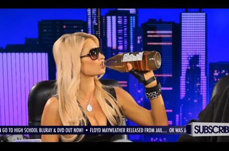 Paris Hilton drinking a 40 oz. May wanna blame Snoop Dogg Lion though.
