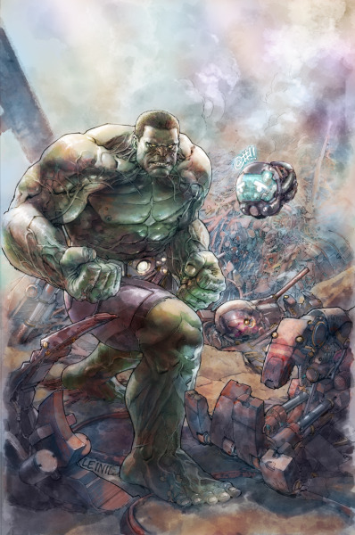 leinilyu:  Here's the copy-free version of the Indestructible Hulk cover.  I don't know why the CBR pic is washed out.  I hope it gets fixed on the actual.