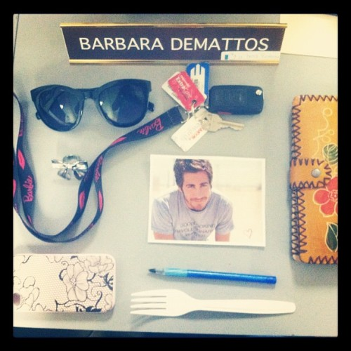 Things on my desk #desk #sunglasses #keys #jake #wallet #hotmess  (Taken with Instagram)
