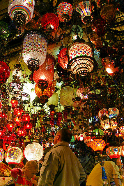 visitheworld:  Hanging lamps at the Grand Bazaar of Istanbul, Turkey (by guzi4real).