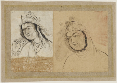 timur-i-lang:  Two women's portraits Safavid Iran, 1630s