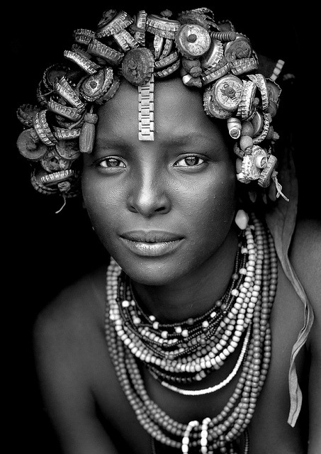 Daasanach tribe girl - Omorate Ethiopia by Eric Lafforgue on Flickr.