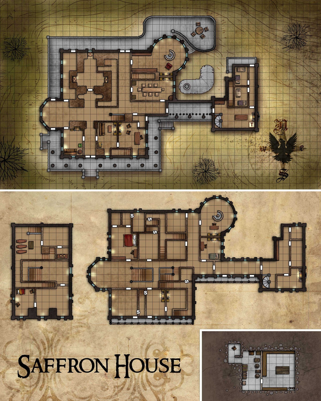 Saffron House Map for Pathfinder