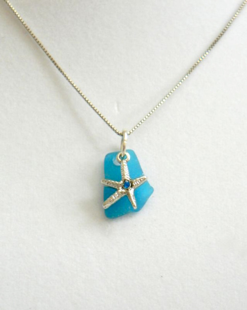 My Mum's @Etsy shop has new jewelry up! She hand collects all of the sea glass and assembles the charm necklaces herself. They're BEAUTIFUL, so check them out if you can!  It would make her day! And mine! :)