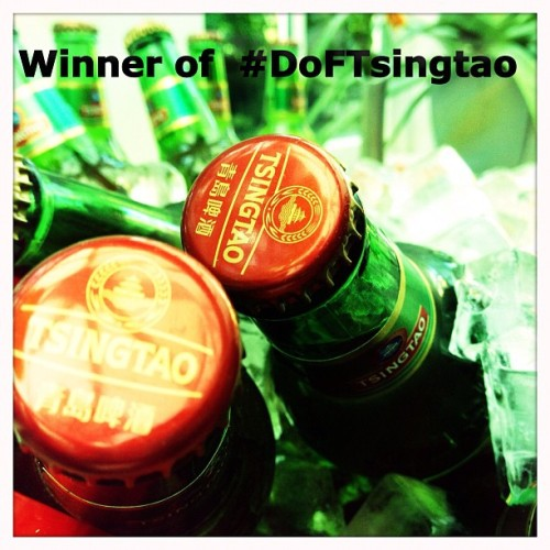 Winner of #DoFTsingtao contest is @stephyuk @Tsingtao (Taken with Instagram)