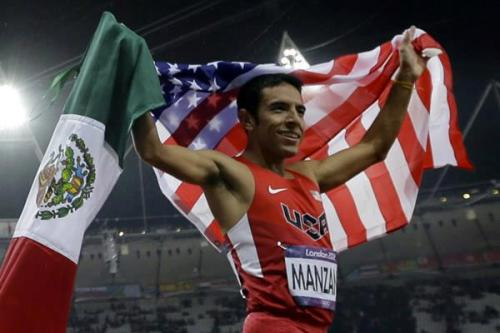 "Former Undocumented Immigrant Leo Manzano Wins Silver Olympic Medal for U.S.  On Tuesday, Mexican-born American runner Leo Manzano won a silver medal in the men's 1,500-meter final, running the fastest time ever by a U.S. athlete at the Games. Manzano, 27, entered the U.S. at the age of 4 without papers, according to LetsRun. He didn't gain legal residency until 10 years later. ""Silver medal, still felt like I won! Representing two countries USA and Mexico!"", Manzano tweeted shortly after his win. Most of his tweets throughout the Olympics have been in both Spanish and English.  All the feels right now, guise."