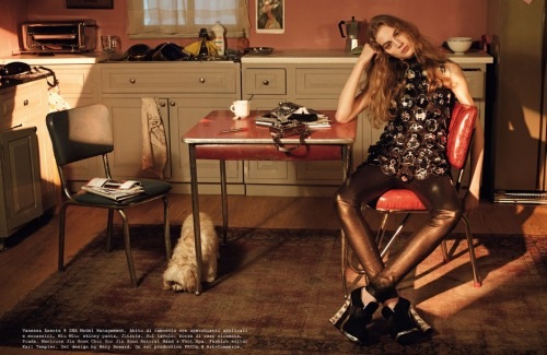 Vanessa Axente by Steven Meisel for Vogue Italia August 2012