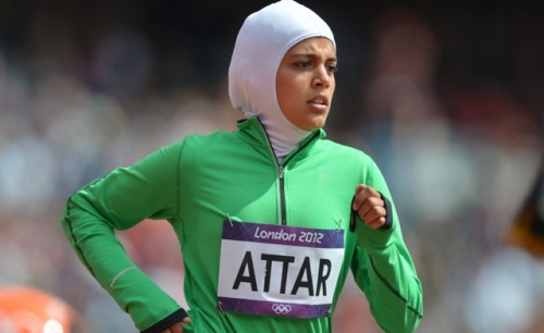 Sarah Attar becomes 1st Saudi female track Olympian Al Arabiya: Sarah Attar has become the 1st female track and field athlete to represent Saudi Arabia at the Olympics. She finished last at the women's 800 meter race, but received a standing ovation from the audience. Photo credit: AFP