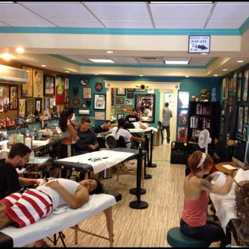 Full house today! (Taken with Instagram at South Shore Tattoo Co.)