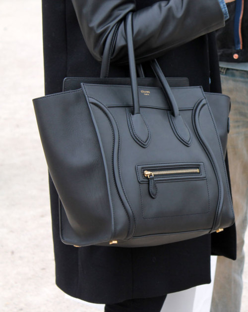 nosejobsandnarcissism:  Céline Boston Tote photographed during Paris Fashion Week