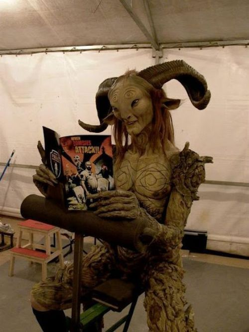 part2of3:  Doug Jones being awesome on the set of Pans Labyrinth