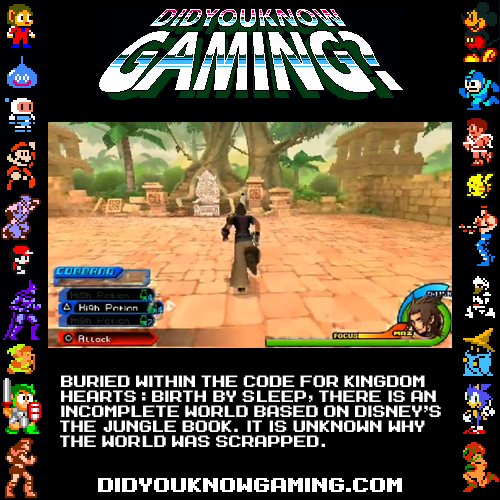 didyouknowgaming:  Kingdom Hearts: Birth by Sleep.  Submitted by Jordan Gonzalez.