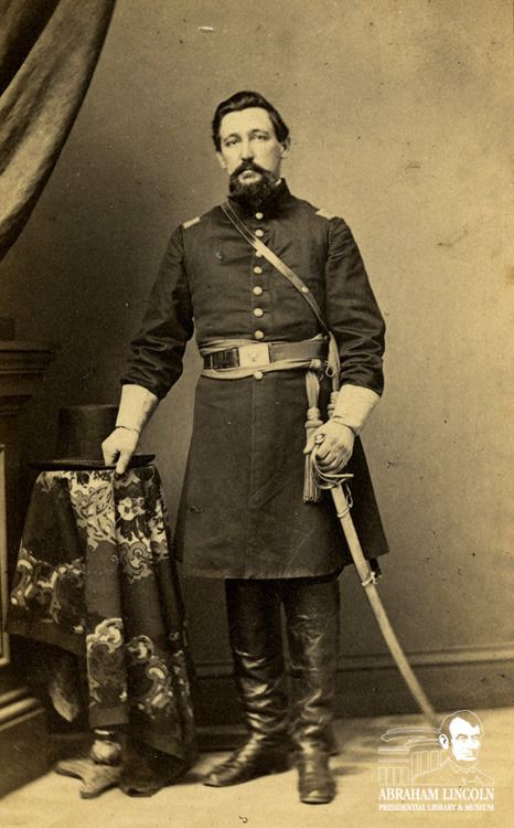"Boys In Blue: Col. Daniel Brown Bush, 2nd Illinois Cavalry Regiment Before Colonel Daniel Brown Bush, Jr. enlisted in the Union Army, he was the owner and editor of the ""Pike County Journal"" in Pittsfield, IL and was one of the first newspaper editors to endorse Abraham Lincoln as a candidate for President. On February 9, 1860 Daniel Bush published an editorial written by John Nicolay, who would go on to become one of Abraham Lincoln's private secretaries. A section of the editorial read: Give us Lincoln as the candidate and we can promise the electoral vote of Illinois for the Republicans as a sure result…He maintains the faith of the Fathers of the Republic, he believes in the Declaration of Independence, he yields obedience to the Constitution and laws of his country. He has the radicalism of Jefferson and of Clay and the conservatism of Washington and Jackson. In his hands the Union would be safe. Certainly Daniel Bush believed in the cause of the Union because a year and a half later he enlisted as a Major in the Second Illinois Cavalry Regiment, taking part in the battles at Forts Henry and Donelson as well as Shiloh. As a Lieutenant Colonel, Bush commanded the Second Illinois at the Battle of Vicksburg. He was discharged as Colonel of the Second Cavalry on July 24, 1865 and would eventually find his way to Portland, OR where we would live until his death in 1913. Upon his death, the ""Sunday Oregonian"" wrote in his obituary: For the past three months he has been almost helpless and, like our old friend, Colonel Newcomb, he has been living over again the stirring scenes of his early manhood, frequently imagining himself at the head of his loved regiment, and when the time came for him to answer the last roll call he answered is as placidly as did our old English Colonel, and slipped away from the troublous things of this lower life. He had fought the good fight, like the brave true soldier he was, and could well afford to go where alarums are never heard and conflicts never come.  ©2012 Abraham Lincoln Presidential Library and Museum"