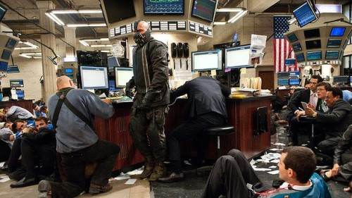 STOCK BROKER- There's no money here for you to steal.  BANE- Really? So why are you people here?